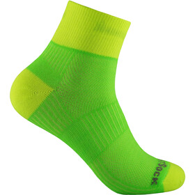 Wrightsock Coolmesh II Quarter Sukat, lemon-lime